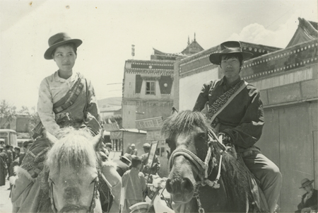Cai and Hong Hong in Tibet, 1982